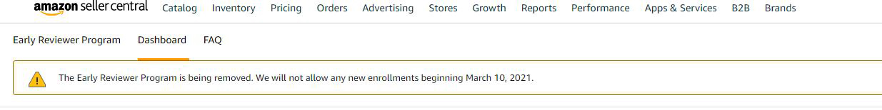 Amazon Early Reviewer Program being removed